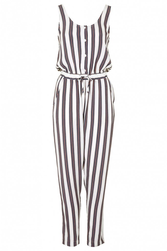 Striped Jumpsuit     Price: £45.00 click to visit Topshop