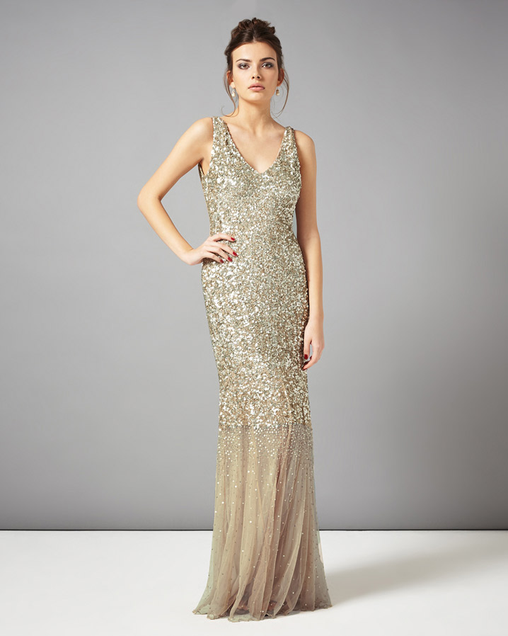 Luna Sequin Full Length Dress £350.00 click to visit Phase Eight
