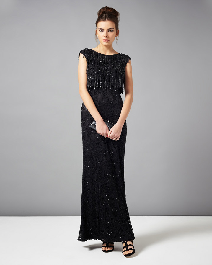 Gerona Fringe Beaded Full Length Dress £350.00 click to visit Phase Eight