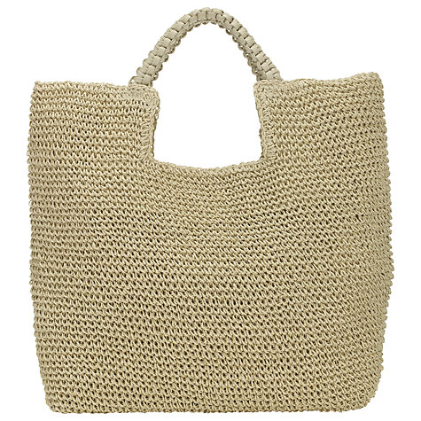 Collection WEEKEND by John Lewis Straw Shopper Bag, Natural £29 click to visit John Lewis