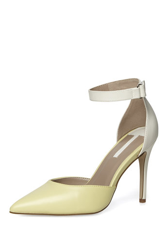 Wide fit lemon 2-part pointed court shoes     Was £27.00     Now £21.60 click to visit Dorothy Perkins