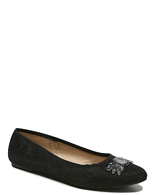 Embellished Pointed Toe Ballet Shoes £12.00 click to visit Asda George