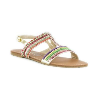 Lilley Womens Multi-Bead T Bar Sandal £14.99 click to visit Shoezone