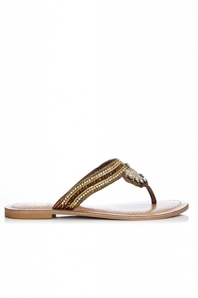 Bronze Jewel Sandal Price: £35.00 click to visit Wallis