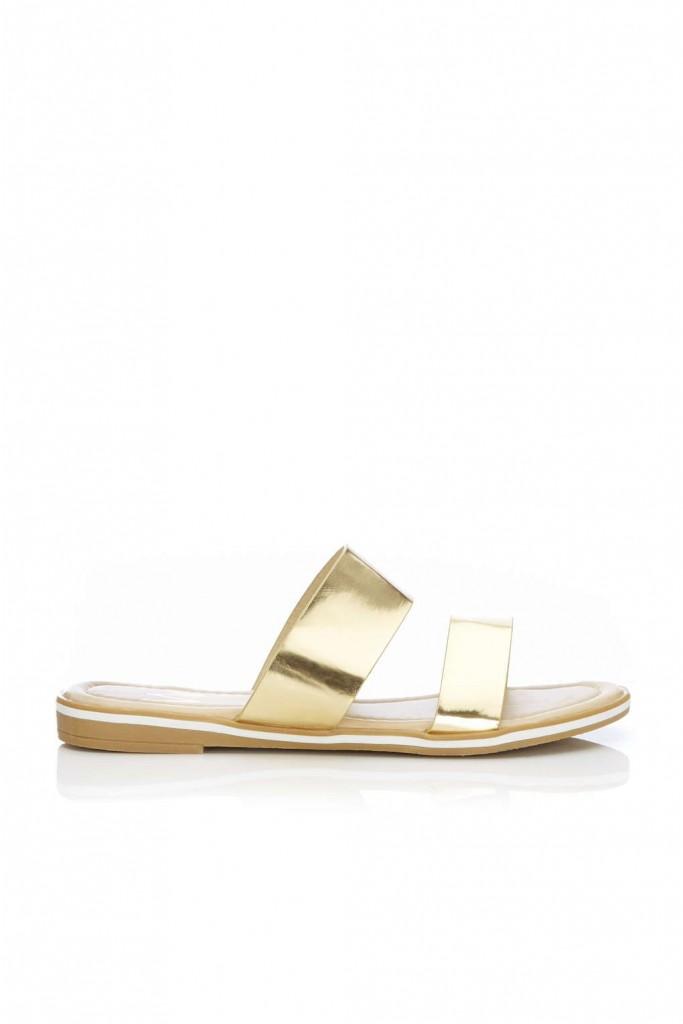 Gold Flat Mule Shoe Price: £25.00 click to visit Wallis
