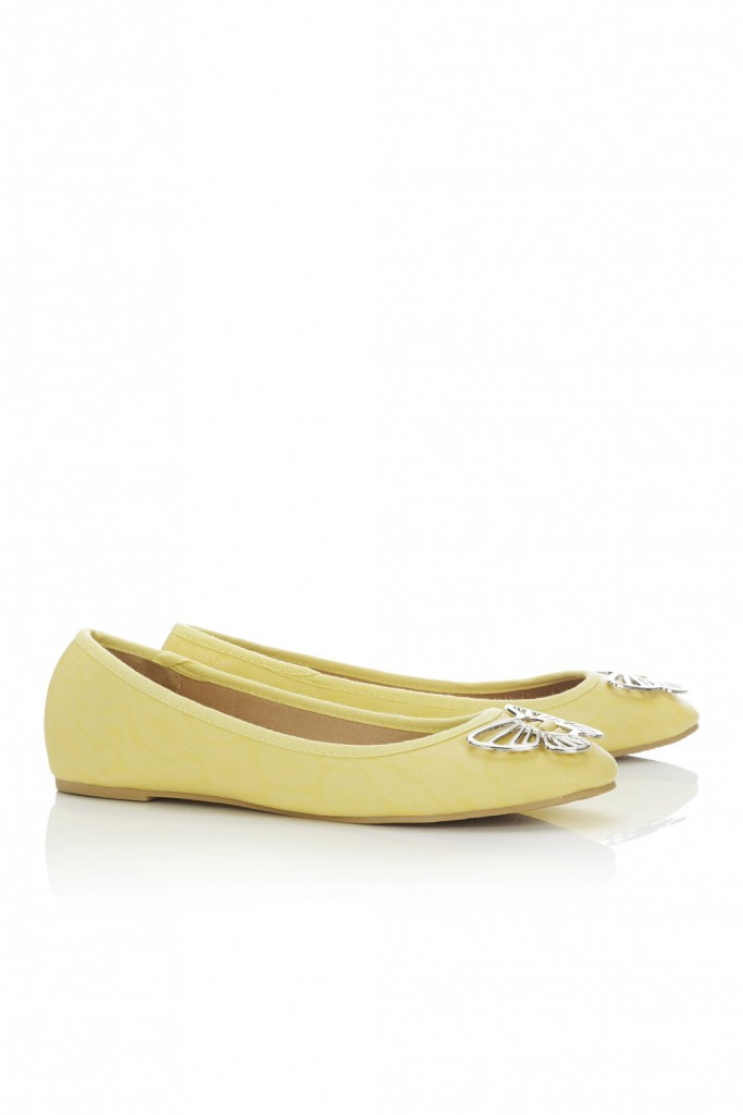 Yellow Embellished Ballet Pump     Was £25.00 Now £20.00 click to visit Wallis