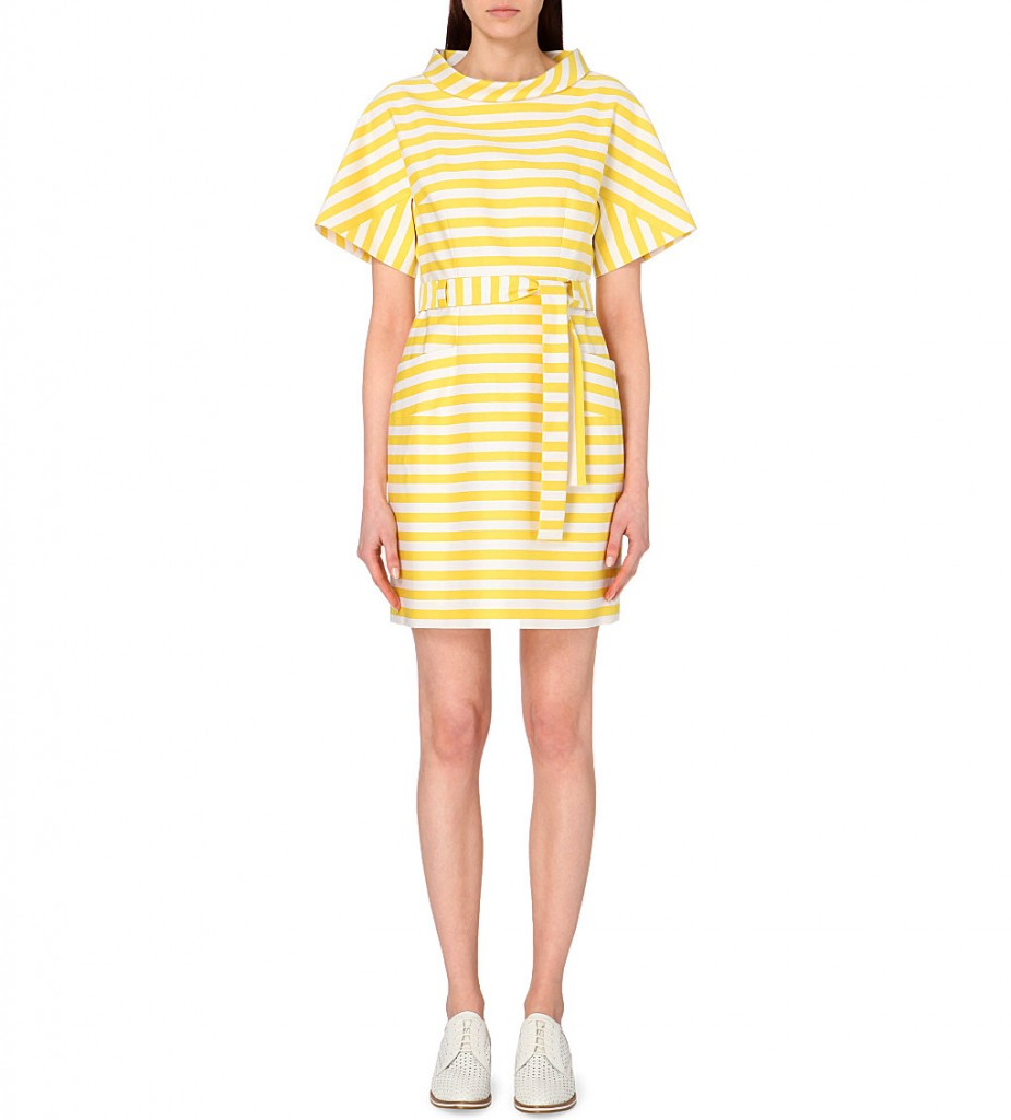 KAREN MILLEN Belted striped cotton-stretch dress     £160.00 click to visit Selfridges