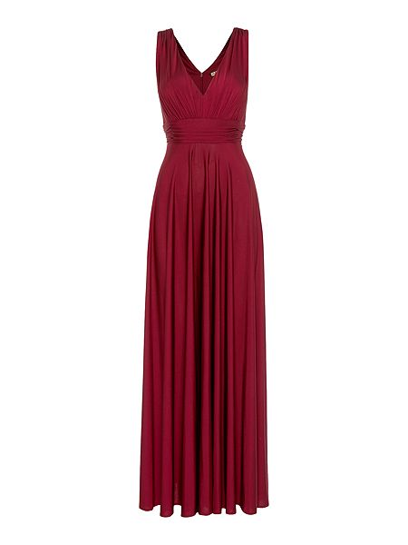 Biba Deep V full skirted maxi dress £149 click to visit House of Fraser