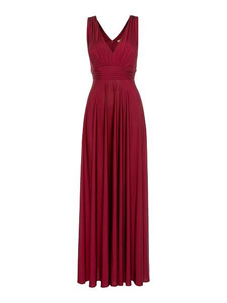 Biba Deep V full skirted maxi dress £149 click to visit House of Fraser