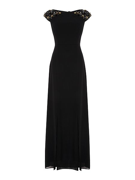 Biba Embellished shoulder panelled maxi dress £169 click to visit House of Fraser