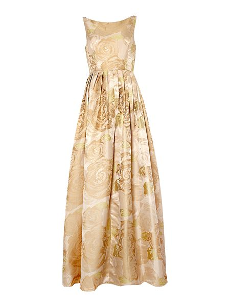 Adrianna Papell Floral jacquard gown £250 click to visit House of Fraser