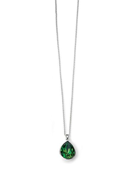 Elements Silver Fern green pear shape pendant £50 click to visit House of Fraser