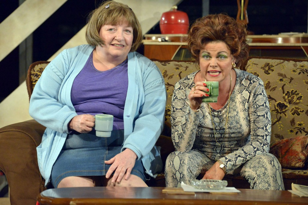 Joanna Brokes as Sadie and Vicky Entwistle as Mari in The Rise And Fall ...
