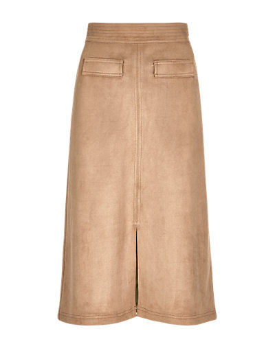 LIMITED EDITION Faux Suede A-Line Skirt T692125H     £31.60 click to visit M&S