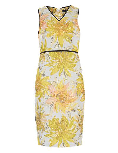 AUTOGRAPH Online only Floral Jacquard Shift Dress £65 click to visit M&S