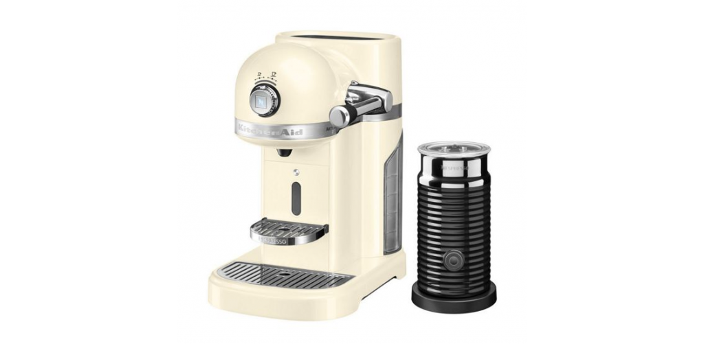 KitchenAid Nespresso Machine + Aeroccino Almond Cream £349 click to visit House of Fraser
