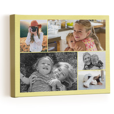 """Collage Photo Canvas  Choose between five sizes from 10""""x8"""" to 24""""x20"""". from £29.99 click to visit Truprint"""