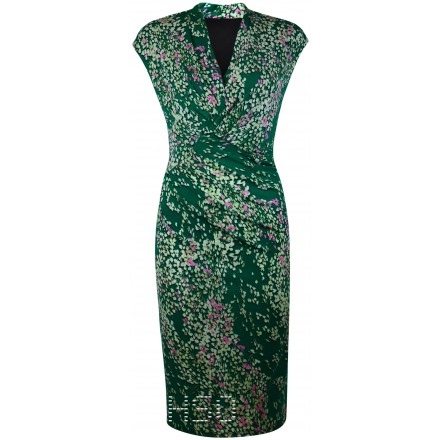 Ex Per Una Green Floral Wrap style Dress £21.50 click to visit High Street Outlet