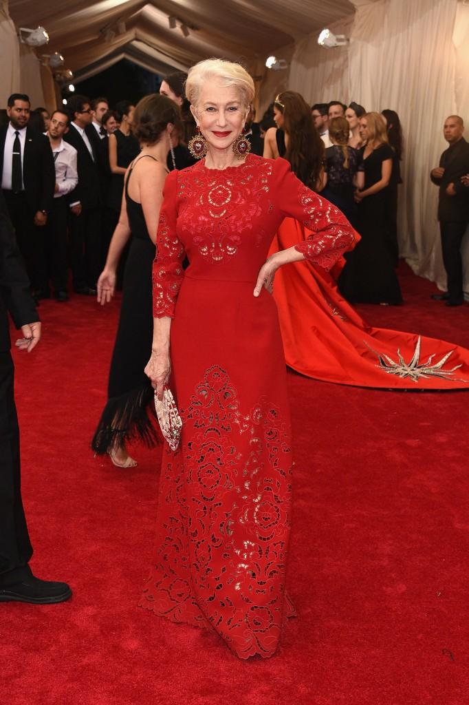 Helen Mirren wears Dolce and Gabbana