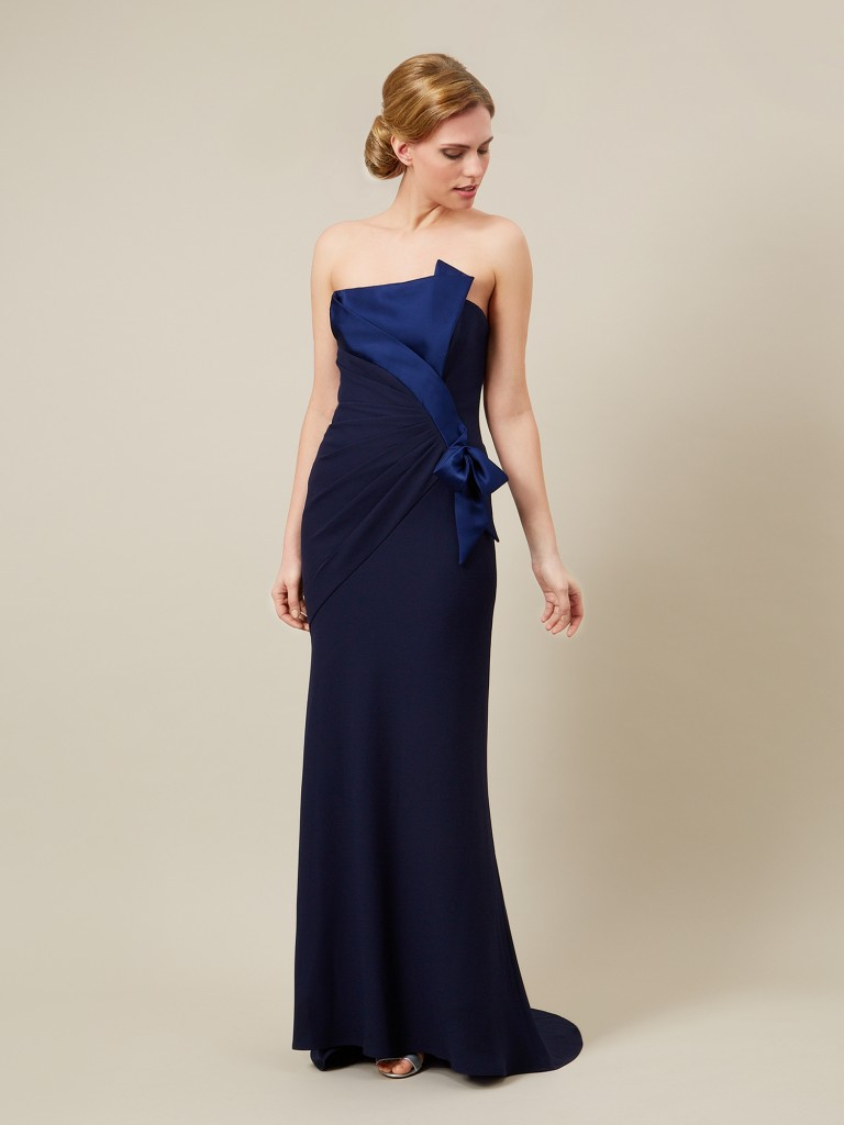 NAVY SATIN MAXI GOWN Item No. 010037868 £399.00 click to visit Jacques Vert