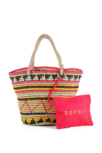 bright natural-look shopper £ 45.00 click to visit Esprit