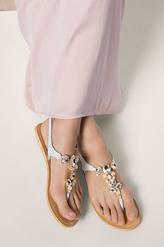 toe-post sandals with rhinestones £ 45.00 click to visit Esprit