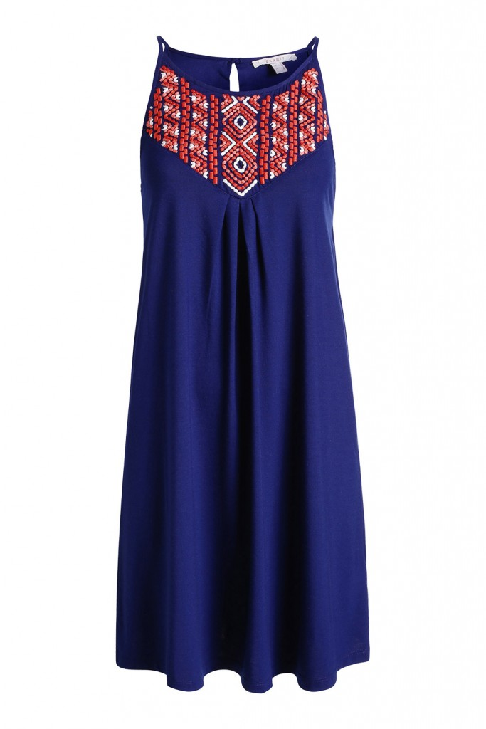 stretch jersey dress with embroidery £ 29.00 click to visit Esprit