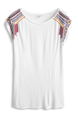 flowing top with sequin embroidery £ 25.00 click to visit Esprit