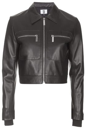 Mason Cropped Leather Jacket by Unique     Price: £325.00 click to visit Topshop