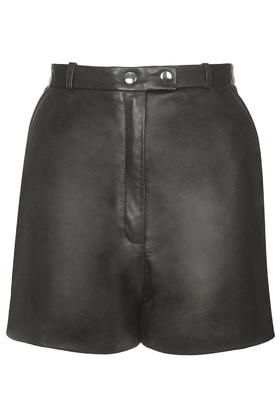 Mason Leather Shorts by Unique     Price: £145.00 click to visit Topshop