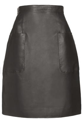 Angie Leather Skirt by Unique     Price: £195.00 click to visit Topshop