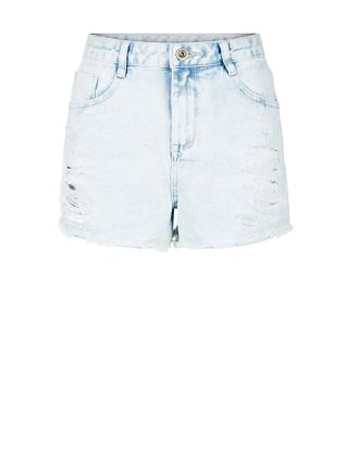 Light Blue Ripped Denim Mom Shorts Now £14.50Was £19.99 click to visit New Look