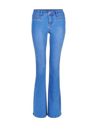 Blue Flared Jeans £24.99 click to visit New Look