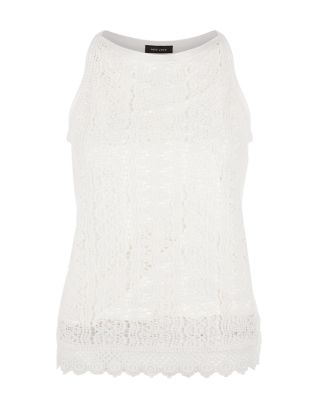 White Lace Sleeveless Top £22.99 click to visit New Look