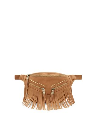 Tan Studded Fringed Bumbag £12.99 click to visit New Look