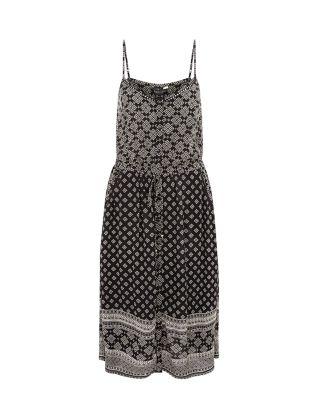 Black Tile Print Strappy Midi Dress £22.99 click to visit New Look