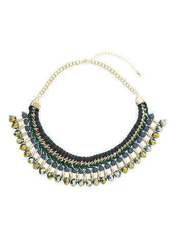 Green Woven Bead Collar     Price: £16.50 click to visit Dorothy Perkins