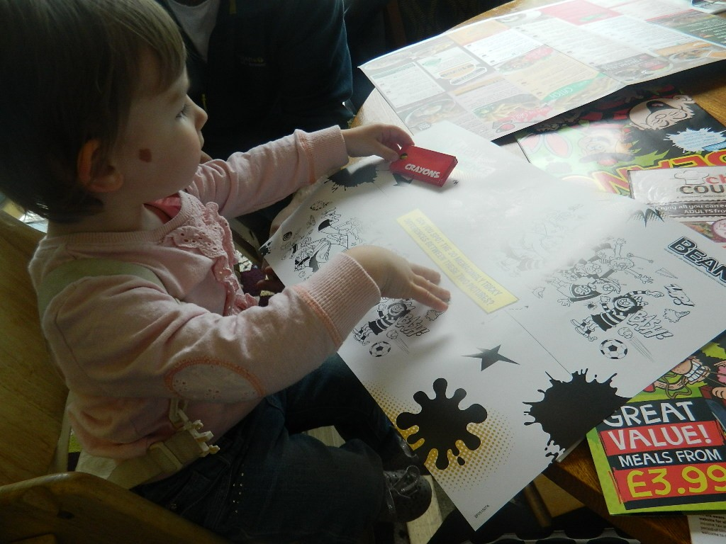 Renee enjoyed the colouring in.