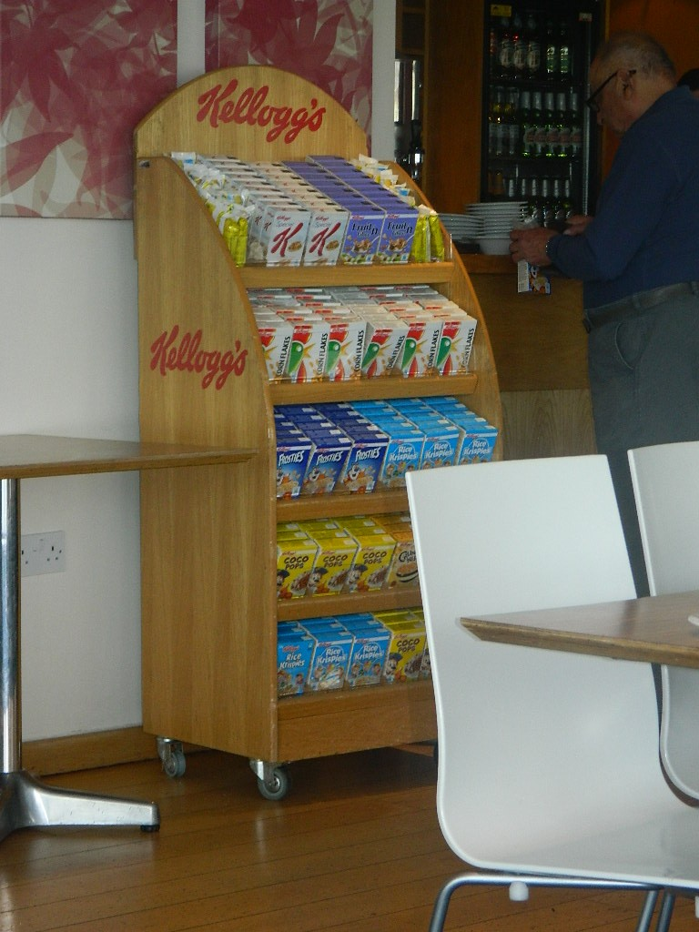 Lots of choice of cereals