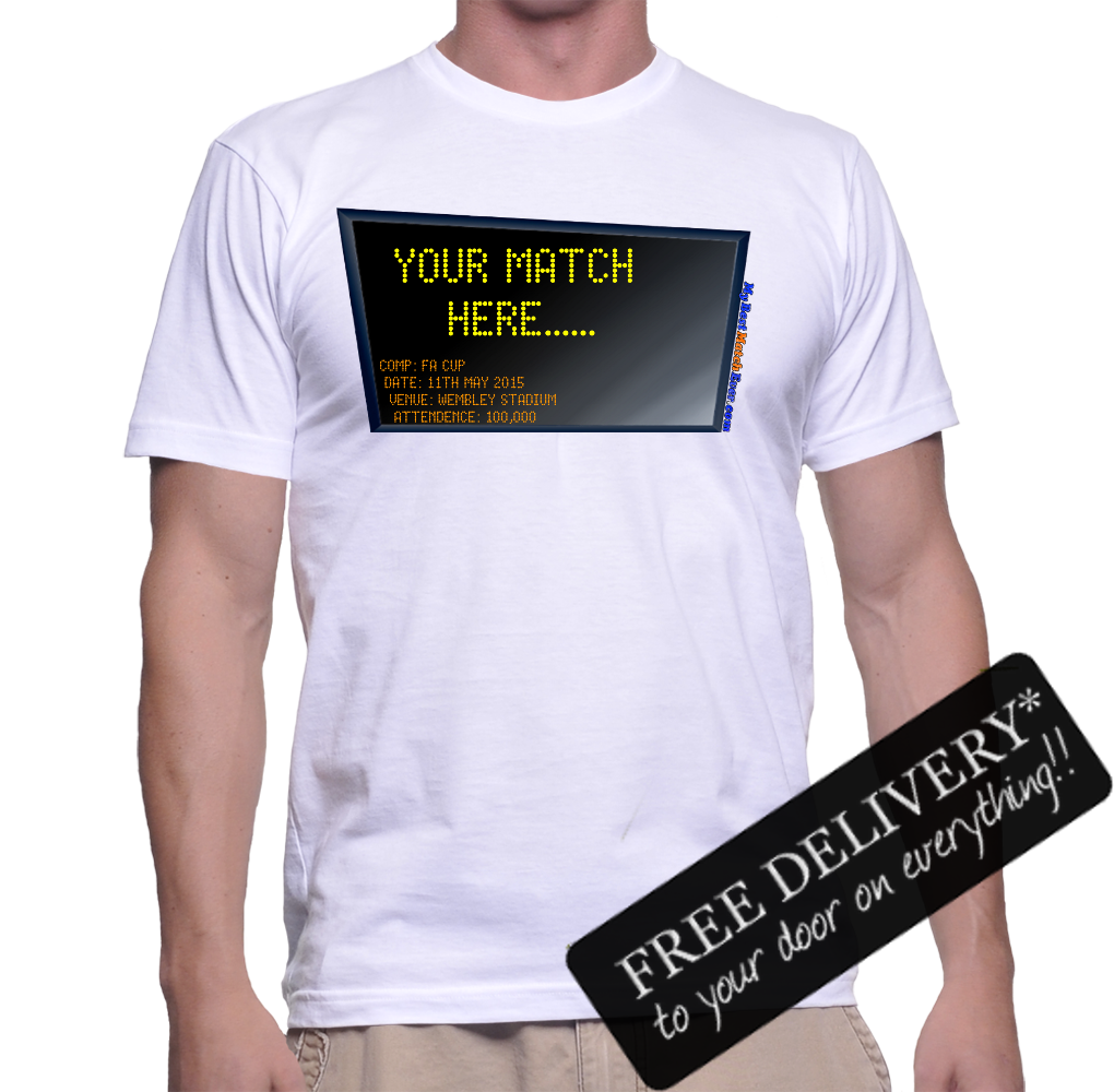 A Personalised Custom Football T-Shirt - My Best Match Ever - Your match here... £14.95 click to visit Personalised Gift Solutions
