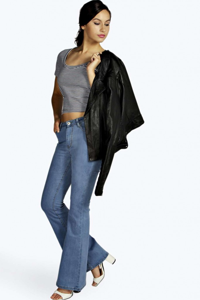 Boohoo Blue Jennie High Waisted Skinny Flare Jeans £20 click to visit Boohoo