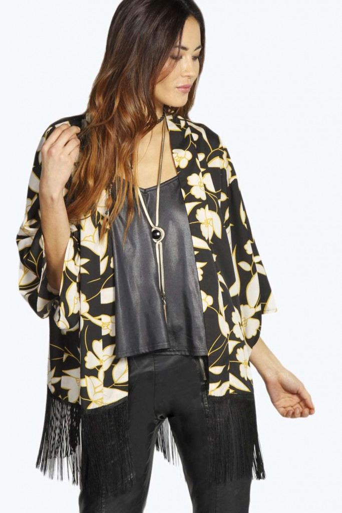 Kelly Crop Tassl Paisley Kimono Product code: azz20506 £18.00 click to visit Boohoo
