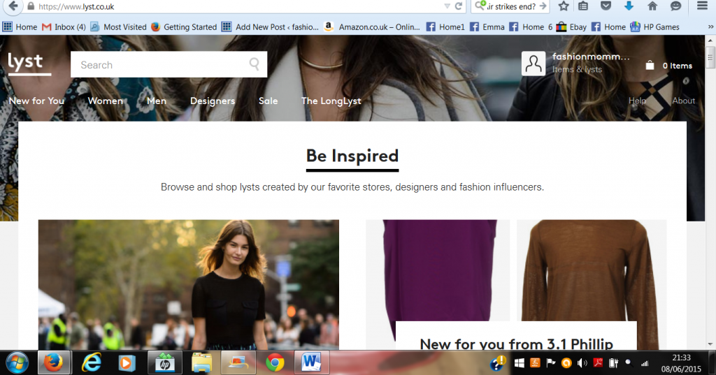 lyst front page