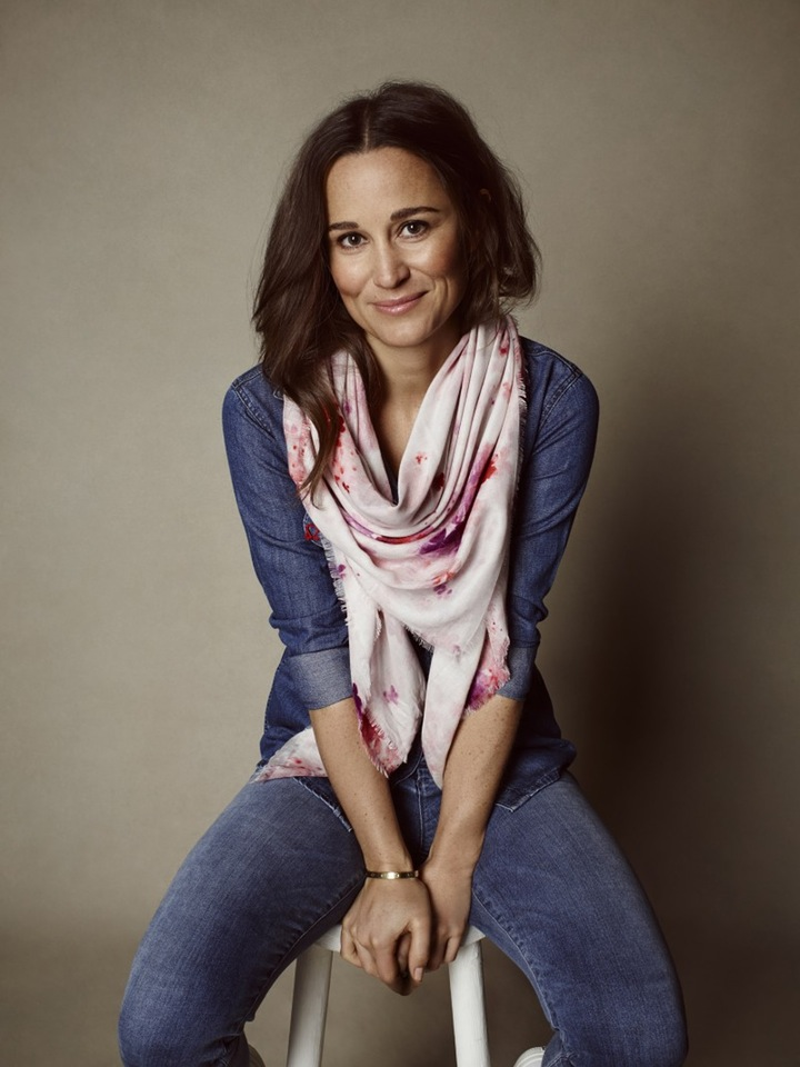 Pippa Middleton wears the BHF scarf.