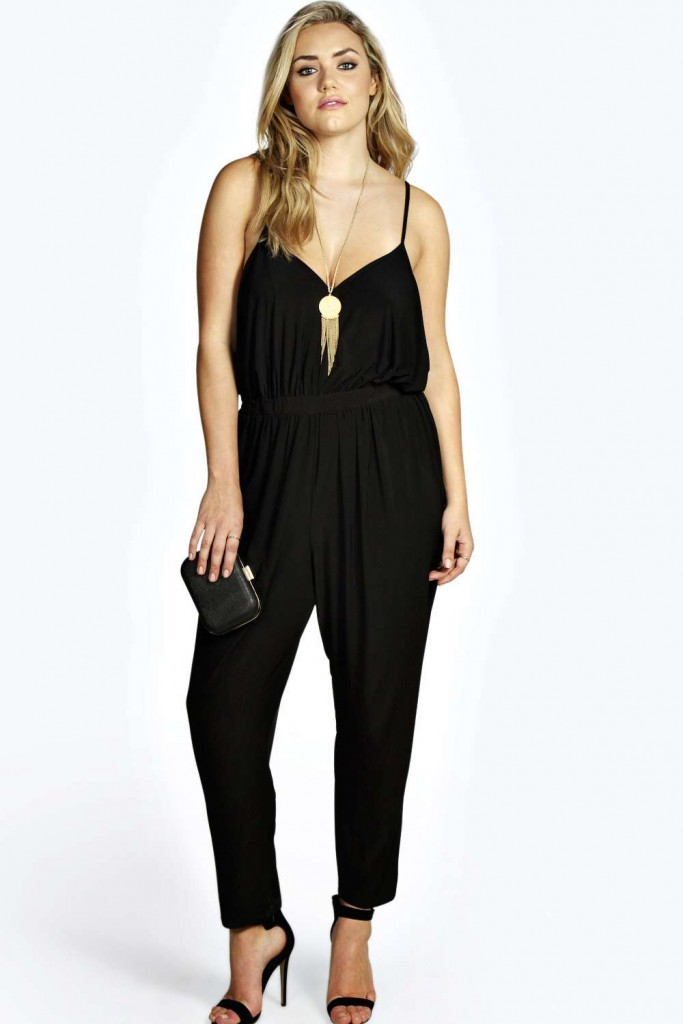 Boohoo Plus Plus Gabriella Drape Side Jumpsuit £20 click to visit Boohoo