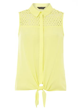 Laser Cute Detail Sleeveless     Was £22.00     Now £12.00 click to visit Dorothy Perkins