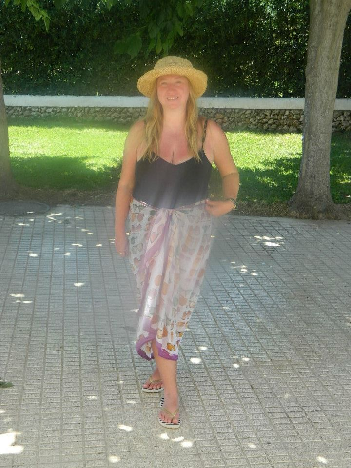 Clements Ribiero Scarf used as a sarong