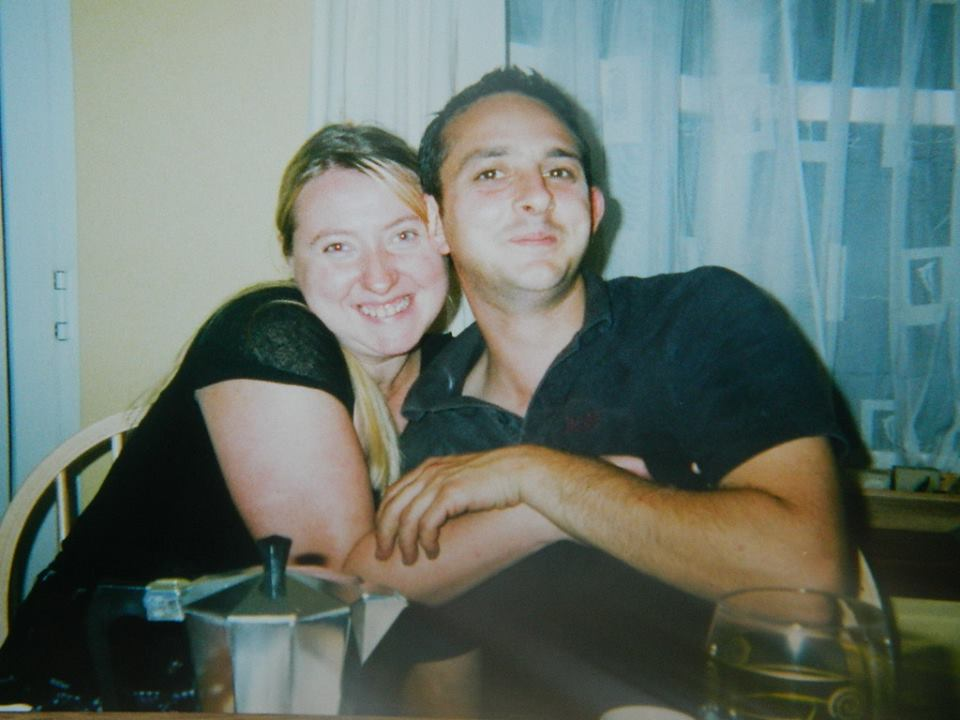 Just after moving into our house in the dining room in 2003.