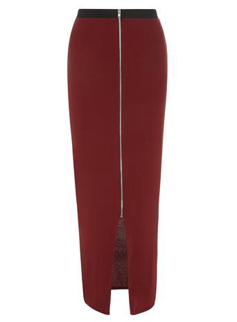 Cognac Zip Front Maxi Skirt     Price: £20.00 click to visit Dorothy Perkins