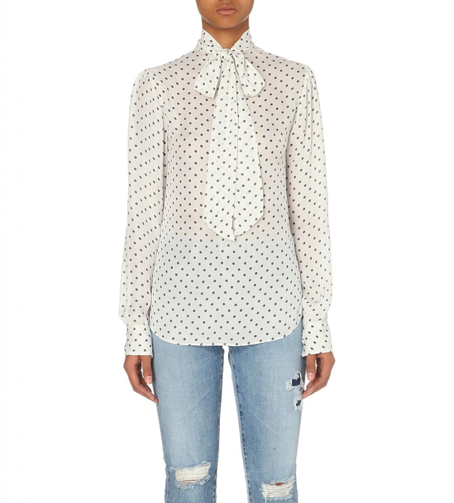 ALEXA CHUNG FOR AG Gordonberry pussy-bow silk shirt     £270 click to visit Selfridges